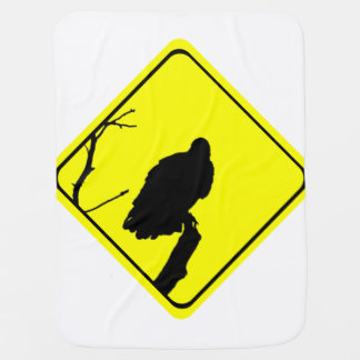 Vulture Warning Sign Love Bird Watching Raptors Swaddle Blanket