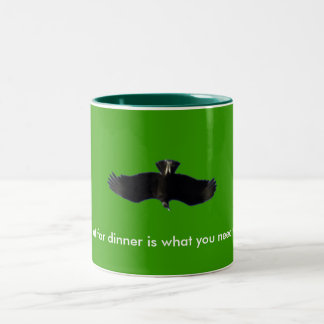 Vulture, What I eat for dinner is what yo... Two-Tone Coffee Mug