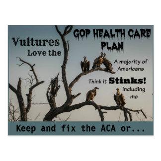 Vultures Anti GOP Health Care Plan Postcard