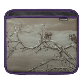 Vultures at Top of Leaveless Tree Sleeve For iPads