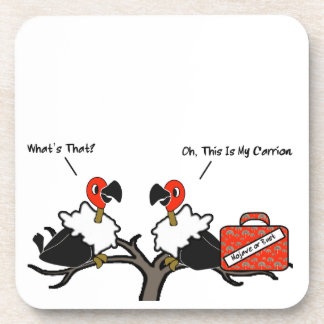 Vultures Carrion Carry-On Luggage Cartoon Beverage Coaster