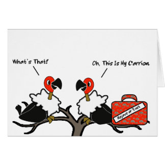 Vultures Carrion Carry-On Luggage Cartoon Card