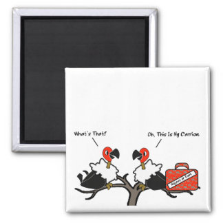 Vultures Carrion Carry-On Luggage Cartoon Magnet