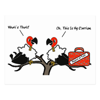 Vultures Carrion Carry-on Luggage Cartoon Postcard