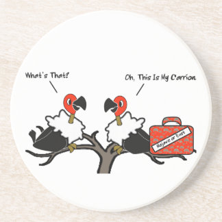 Vultures Carrion Carry-On Luggage Cartoon Sandstone Coaster