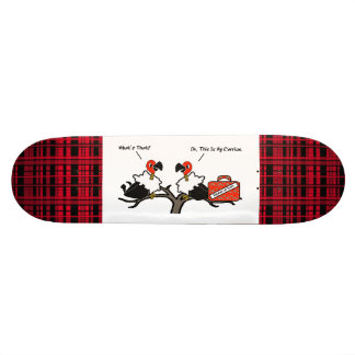 Vultures Carrion Carry-on Luggage Cartoon Skateboard Deck
