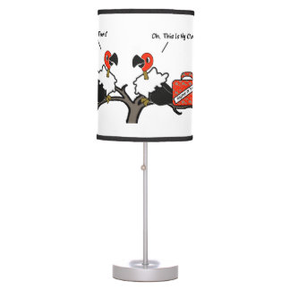Vultures Carrion Carry-on Luggage Cartoon Table Lamp
