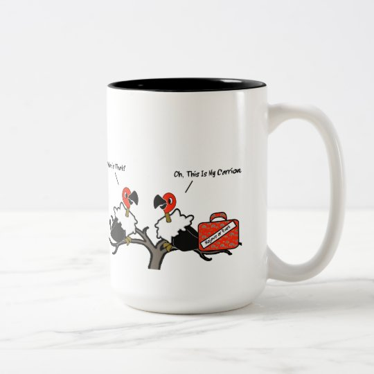 Vultures Carrion Carry-On Luggage Cartoon Two-Tone Coffee Mug