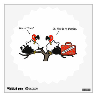 Vultures Carrion Carry-on Luggage Cartoon Wall Sticker