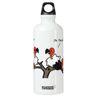 Vultures Carrion Carry-on Luggage Cartoon Water Bottle