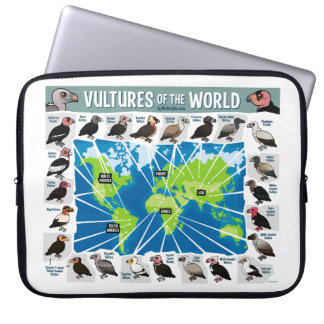 Vultures of the World Map Computer Sleeve