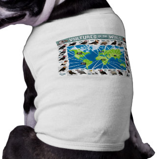 Vultures of the World Map Pet Tshirt