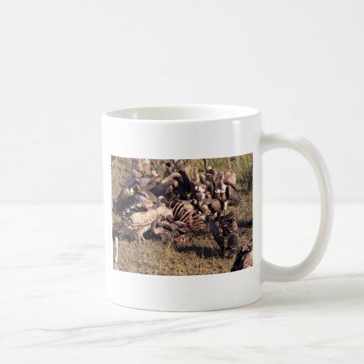Vultures with gnu skeleton classic white coffee mug