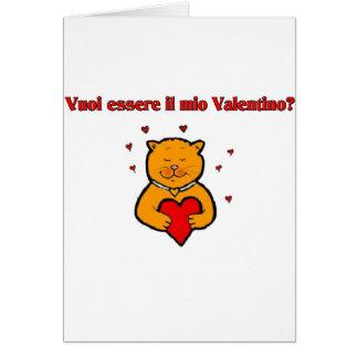 Vuoi essere il mio Valentino? Card