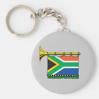 Vuvuzela de Suráfrica Llavero Redondo Tipo Pin