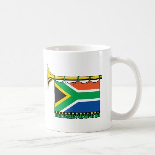 Vuvuzela de Suráfrica Taza Básica Blanca