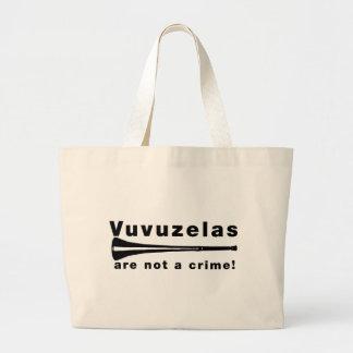 Vuvuzelas no es un crimen bolsa tela grande
