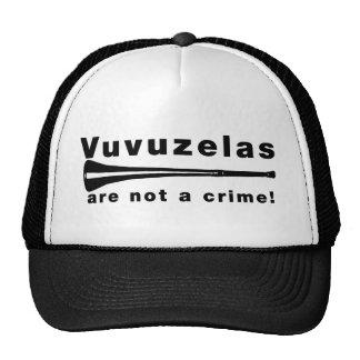 Vuvuzelas no es un crimen gorras