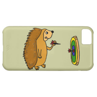 VV- Funny Hedgehog Throwing Darts Cartoon iPhone 5C Cover