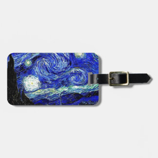 vVan Gogh Starry Night Fine Art Luggage Tag