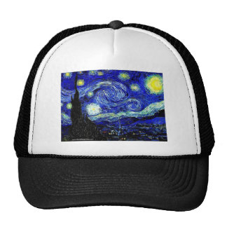 vVan Gogh Starry Night Fine Art Trucker Hat
