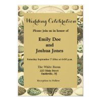 vVintage Bird Egg Nest Artwork Wedding Invitation