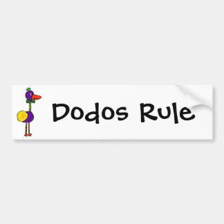 VW-Colorful Funny Dodo Bird Cartoon Car Bumper Sticker