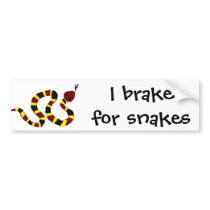 VW- Colorful Snake Primitive Art Bumper Sticker