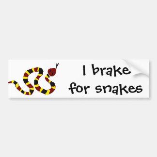 VW- Colorful Snake Primitive Art Bumper Stickers