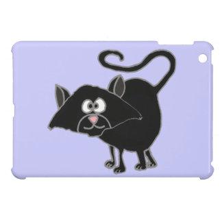 VW dibujo animado divertido del gato negro iPad Mini Cárcasas