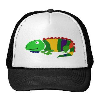 VW- Funky Primitive Art Iguana Trucker Hat