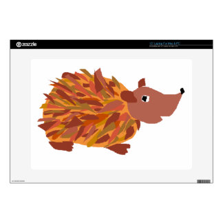 "VW- Funny Colorful Hedgehog 15"" Laptop Decals"
