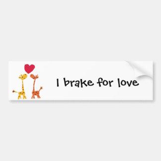 VW- Funny Giraffe Love Cartoon Bumper Sticker