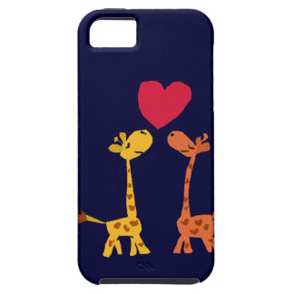 VW- Funny Giraffe Love Cartoon iPhone 5 Cases