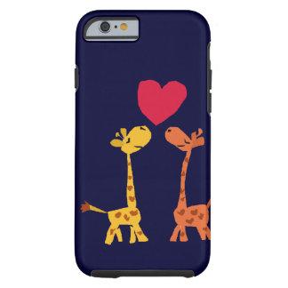 VW- Funny Giraffe Love Cartoon Tough iPhone 6 Case