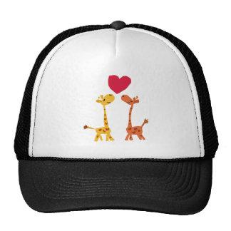 VW- Funny Giraffe Love Cartoon Trucker Hat