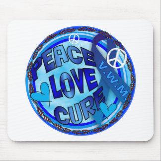 VWM AWARENESS PEACE LOVE CURE MOUSE PAD