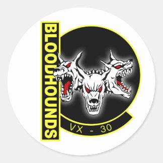 VX-30 Bloodhounds Classic Round Sticker