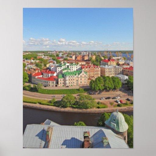 Vyborg Rusia Leningrad Oblast de la torre de Olaf Impresiones