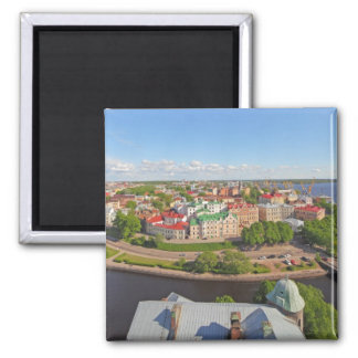 Vyborg Russia Leningrad Oblast from Olaf Tower 2 Inch Square Magnet