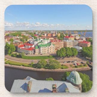 Vyborg Russia Leningrad Oblast from Olaf Tower Beverage Coaster
