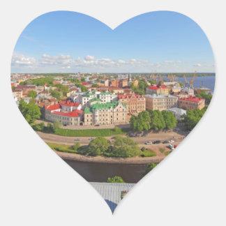 Vyborg Russia Leningrad Oblast from Olaf Tower Heart Sticker