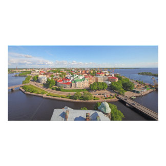 Vyborg Russia Leningrad Oblast from Olaf Tower Photo Card Template