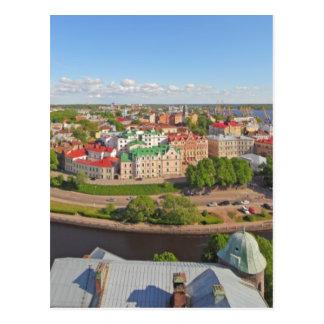 Vyborg Russia Leningrad Oblast from Olaf Tower Postcard