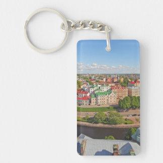 Vyborg Russia Leningrad Oblast from Olaf Tower Single-Sided Rectangular Acrylic Keychain