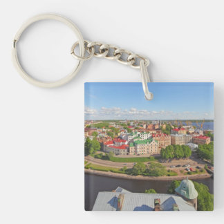 Vyborg Russia Leningrad Oblast from Olaf Tower Single-Sided Square Acrylic Keychain