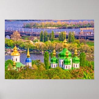 Vydubitsky Monastery. Kiev, Ukraine Poster