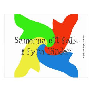 Vykort with samisk design postcard