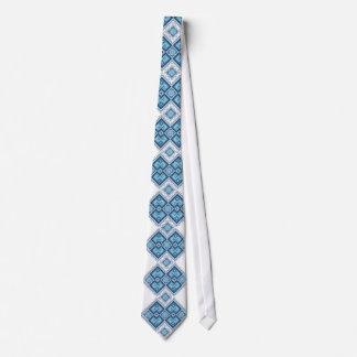 Vyshyvanka ucraniano del azul del bordado corbata