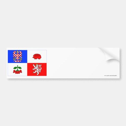 Vysočina Flag Car Bumper Sticker